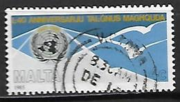 MALTE    -   1985 .   Y&T N° 712 Oblitéré .  ONU - Malta