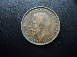 ROYAUME UNI : 1/2 PENNY  1923   KM 809    TTB / TB+ - 1902-1971 : Monnaies Post-Victoriennes