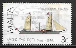 MALTE    -   1985 .   Y&T N° 720 Oblitéré .  Bateau  /  Voilier - Malta