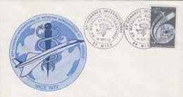 Timbre - Cachet XXè Congrès Médecine Aéronautique Nice - Avion Concorde Aviation - Santé Médecine - Avions