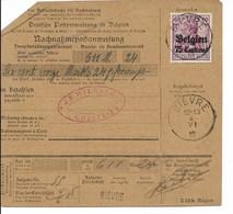 Postwissel Met OC Nr 6 En Verso 14 Van Bièvre Naar Gosselies - Weltkrieg 1914-18