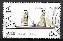 MALTE    -   1985 .   Y&T N° 722 Oblitéré .  Bateau  /  Voilier - Malta