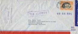 30839. Carta Aerea MANILA (Filipinas) 1936. Sobrecarga Commonwealth. VIA CLIPPER - Filipinas