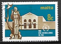 MALTE    -   1986 .   Y&T N° 724 Oblitéré .  St-François D' Assises - Malta