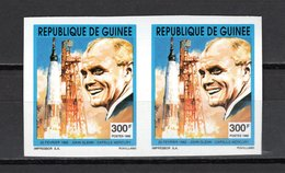 GUINEE N° 966 PAIRE  NON DENTELEE  NEUF SANS CHARNIERE COTE ? € ESPACE MERCURY JOHN GLENN - Guinée (1958-...)