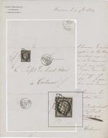 Mulhouse 1849 Entête : Société Industrielle De Mulhouse Pour Colmar Cérès 20 Cts - Marcofilia (sobres)