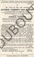 Doodsprentje Jacobus Clement Van Bergen °1868 Baarle-Nassau †1947 Wortel (Hoogstraten) Oud-Burgemeester Wortel (G7) - Décès