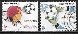 MALTE    -   1986 .   Y&T N° 729 / 730 Oblitérés .  Football - Malta