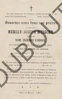 Doodsprentje Hubert-Joseph Mussche °1797 †1865 Halle / Burgemeester Van Halle / Echtg. Angélique Vanhoeck (G8) - Décès