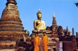 The Image Of Buddha In The Ground Of Wad Mahathak - Sukothai - Thailand - Formato Piccolo Non Viaggiata – E 9 - Postcards