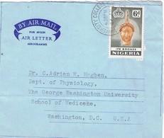 30841. Aerograma, Aerogramme IBADAN (Nigeria) 1960. Fechador University College - Nigeria (1961-...)