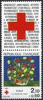 France 1984 - Painting By Caly ( Mi 2473A - YT 2345a ) MNH** + Label Red-Cross - Frankreich