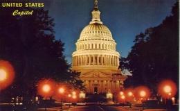 U.s. Capital Dome At Night Washington D.c. - Formato Piccolo Viaggiata Mancante Di Affrancatura – E 9 - Cartoline