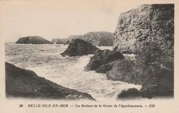 Morbihan : BELLE-ILE-en-MER : Les Rochers De La Grotte De L'apothicairerie - Belle Ile En Mer