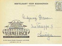 PK Publicitaire WAREGEM 1947 - VERMEERSCH - Boekhandel - Waregem