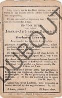 Doodsprentje Joannes-Ferdinandus Cammaert °1812 Huizingen †1873 Burgemeester Huizingen Echtg. Barbara Lievens (G9) - Décès