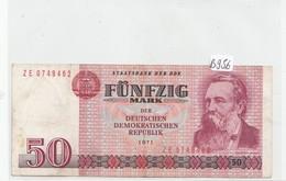 Billets - B956 -  Allemagne ( DDR)   - Billet  50 Mark 1971 (type, Nature, Valeur, état... Voir 2 Scans) - [ 6] 1949-1990: DDR - Duitse Dem. Rep.