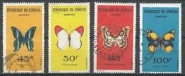 Sénégal YT N°227-228-229-230 Papillons Oblitéré ° - Sénégal (1960-...)