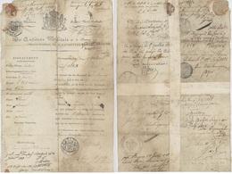 Héraldique 1818 Auditeur Militaire Nord Brabant Mr. Jan Schouten OVERWEGENDEN Garnisson Hertogenbosch - Documents Historiques