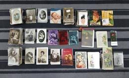 ANTIQUE HUGE LOT X 880 POSTCARDS + 5 BOOK MARKERS WITH COUPLES, WOMEN, MAN, CHILDREN, ANIMALS ILLUSTRATIONS ETC - Cartes Postales