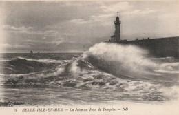 Morbihan : BELLE-ILE-en-MER : La Jetée Un Jour De Tempéte - Belle Ile En Mer