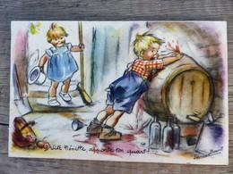 """Germaine BOURET Vite """"Nénette Apporte Ton Quart"""" Dessein Tonneau Cave Vin Enfants - Bouret, Germaine"""