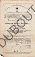 Doodsprentje Charles Vaucamps °1778 Havinnes (Doornik) †1852 Brussel / Burgemeester Huizingen /Echtg. Marie Simons (G11) - Décès