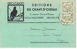 CP Publicitaire 1952 WOLUWE-SAINT-PIERRE - EDITIONS DU CHANT D'OISEAU - DEO CANTO - St-Pieters-Woluwe - Woluwe-St-Pierre