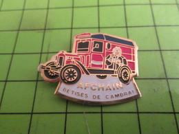 410f Pins Pin's / Rare & De Belle Qualité  THEME ALIMENTATION / BETISES DE CAMBRAI AFCHAIN CAMIONETTE RETRO - Transportation