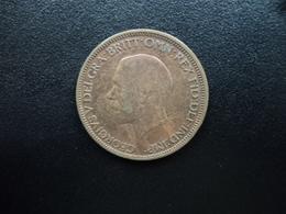 ROYAUME UNI : 1/2 PENNY   1928    KM 837      TB - 1902-1971 : Monnaies Post-Victoriennes