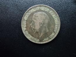 ROYAUME UNI : 1/2 PENNY   1933    KM 837      TB+ / TTB - 1902-1971 : Monnaies Post-Victoriennes