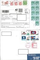 USA 2010 Two Envelopes USA To Romania, Air Mail, Customs Declaration - Etats-Unis