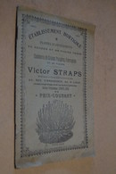 Ancien Catalogue Publicitaire établissement Horticole Année 1900,Victor Straps,Liège,18 Pages,23 Cm/15 Cm. - Pubblicitari