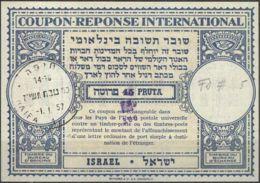 ISRAEL 1957 Nr. 5 IAS IRC CRI Int. Antwortschein 300 Auf 250 / 45 Pruta - Israel