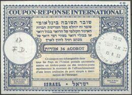 ISRAEL 1960 Nr. 13 IAS IRC CRI Int. Antwortschein 36 Agorot - Israel