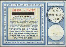 ISRAEL 1971 Nr. 32 IAS IRC CRI Int. Antwortschein 90 Auf 60 Agorot - Israel