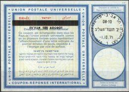 ISRAEL 1971 Nr. 34 IAS IRC CRI Int. Antwortschein 100 Auf 90 Agorot - Israel