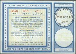 ISRAEL 1972 Nr. 37 IAS IRC CRI Int. Antwortschein 1.10 L.I. - Israel