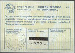 ISRAEL 1976 Nr. 45 IAS IRC CRI Int. Antwortschein 3.30 Auf 2.00 L.I. - Israel