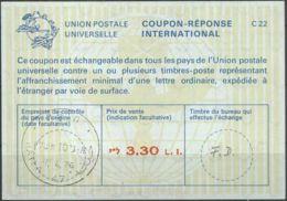 ISRAEL 1976 Nr. 46 IAS IRC CRI Int. Antwortschein 3.30 L.I. - Israel