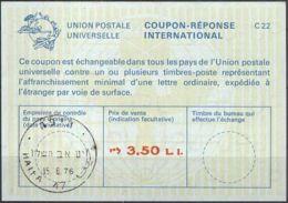 ISRAEL 1976 Nr. 50 IAS IRC CRI Int. Antwortschein 3.50 L.I. - Israel
