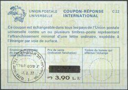 ISRAEL 1977 Nr. 51 IAS IRC CRI Int. Antwortschein 3.90 Auf 3.50 L.I. - Israel