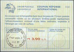 ISRAEL 1977 Nr. 52 IAS IRC CRI Int. Antwortschein 3.90 L.I. - Israel