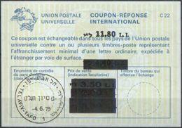 ISRAEL 1979 Nr. 73 IAS IRC CRI Int. Antwortschein 11.80 Auf 4.40 / 3.50 / 3.30 / 2.00 L.I. - Israel