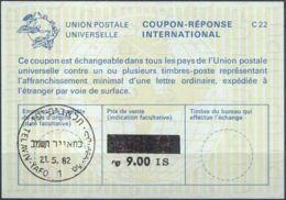 ISRAEL 1982 Nr. 121 IAS IRC CRI Int. Antwortschein 9.00 Auf 6.70 IS - Israel
