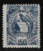 Guatemala N°41 - Oiseaux - Neuf * Avec Charnière - TB - Guatemala