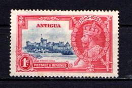 ANTIGUA    1935    Silver  Jubilee   1d  Deep  Blue  And  Carmine    MH - Antigua & Barbuda (...-1981)