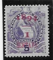 "Guatemala N°60b - Erreur ""1894"" - Oiseaux - Neuf * Avec Charnière - TB - Guatemala"