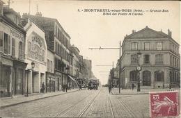 MONTREUIL-sous-BOIS  -  Grande-Rue  Hôtel  Des  Postes  Et  Casino  /  Autobus - Montreuil