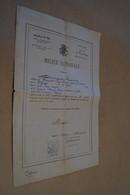 Ancien Document,milice Nationale,levée 1887,province Du Luxembourg,Mr.Poncelet,Offagne,Paliseul,32 Cm./21 Cm - Documents Historiques